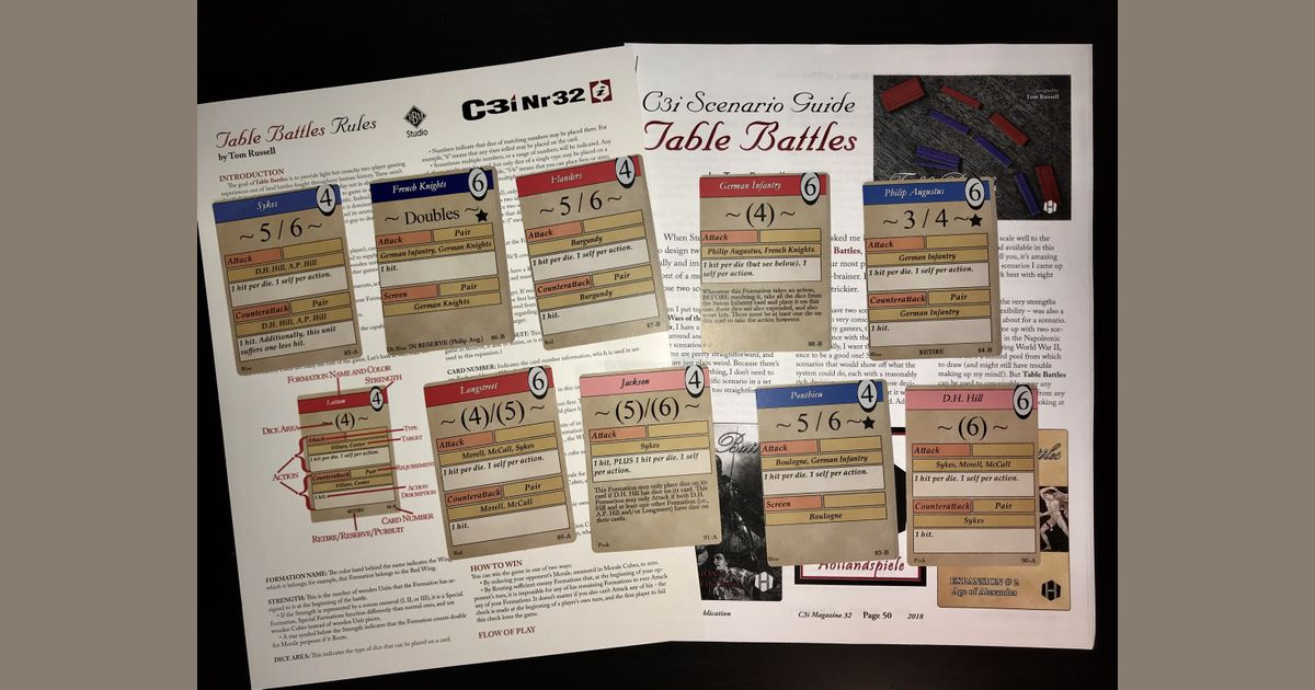 Table Battles: C3i #32 Scenarios