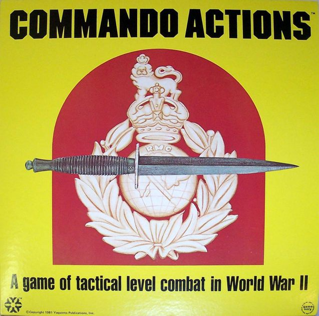 Commando Actions: A Game of Tactical Level Combat in World War II