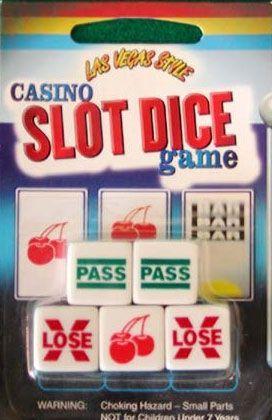 Las Vegas Style Casino Slot Dice Game