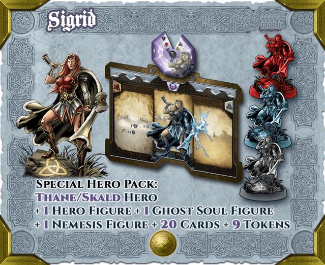 Sword & Sorcery: Hero Pack – Sigrid Thane/Skald