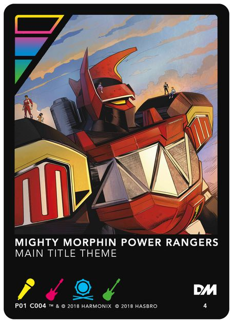 DropMix: Mighty Morphin Power Rangers – Main Title Theme Promo Card