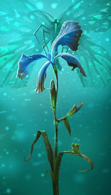 Blossoms: Night Iris Promo Card